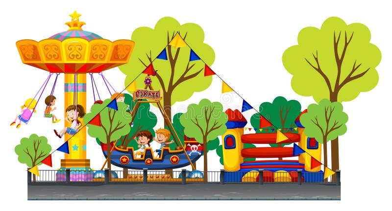 Διαφορετικοί γύροι στο καρναβάλι ελεύθερη απεικόνιση δικαιώματος