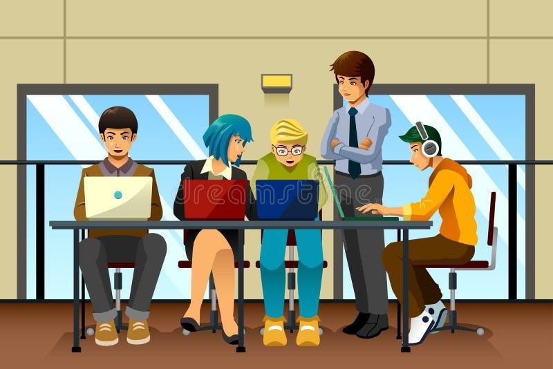 Διαφορετικοί επιχειρηματίες που εργάζονται από κοινού απεικόνιση αποθεμάτων