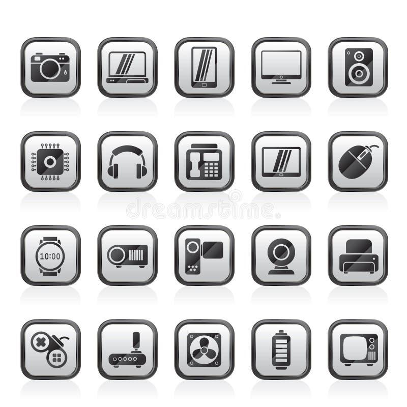 διαφορετικοί τύποι εικονιδίων ηλεκτρονικής απεικόνιση αποθεμάτων