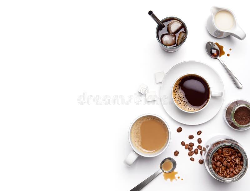 Διαφορετικοί τύποι καφέδων και συστατικών στοκ φωτογραφίες με δικαίωμα ελεύθερης χρήσης
