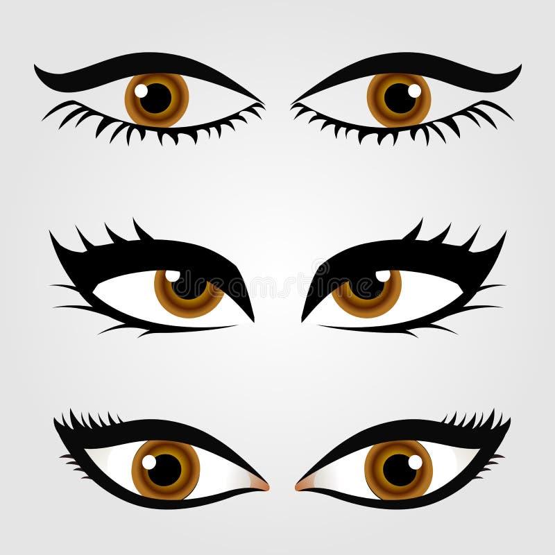 Διαφορετικοί τύποι ματιών των γυναικών απεικόνιση αποθεμάτων