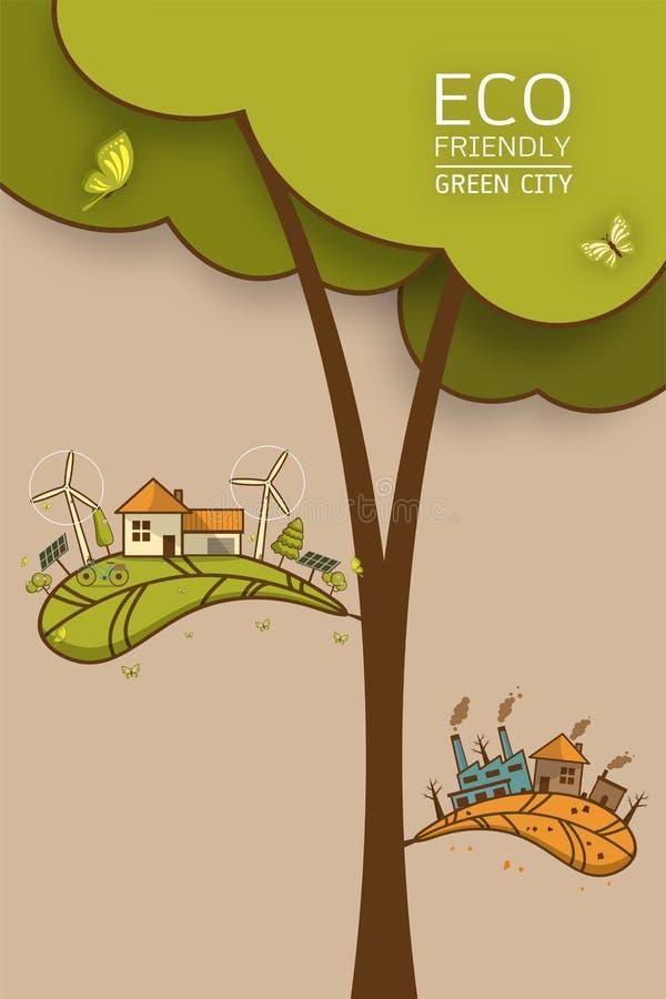 Διαφορετικός της περιβαλλοντικά διανυσματικής απεικόνισης διανυσματική απεικόνιση