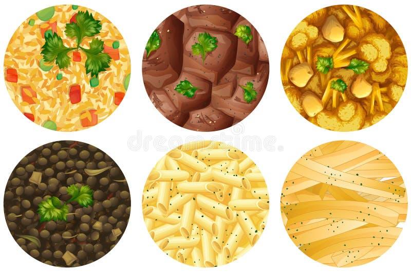 Διαφορετικό είδος τροφίμων απεικόνιση αποθεμάτων