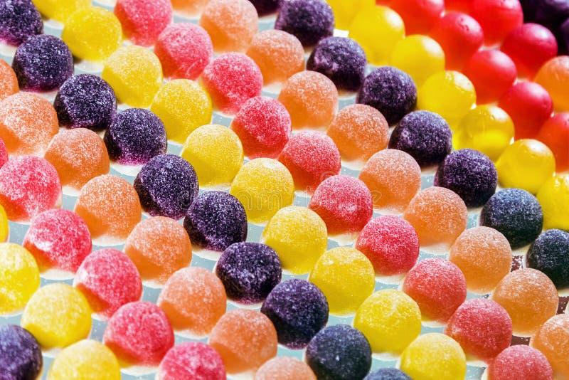 Διαφορετικό υπόβαθρο χρώματος μαρμελάδας Γλυκά στοκ εικόνα με δικαίωμα ελεύθερης χρήσης
