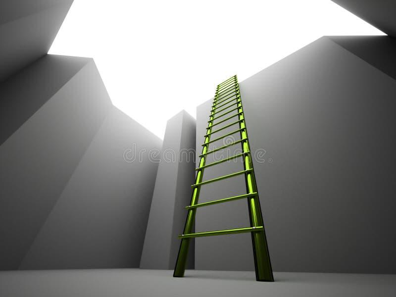 Διαφυγή στη σκάλα από διανυσματική απεικόνιση