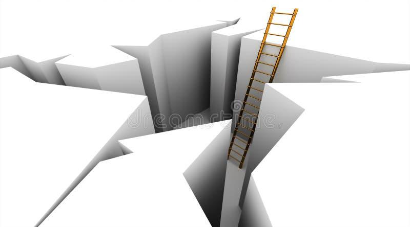 Διαφυγή στη σκάλα ελεύθερη απεικόνιση δικαιώματος