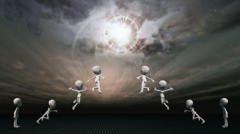 Διαφυγή στον ουρανό διανυσματική απεικόνιση