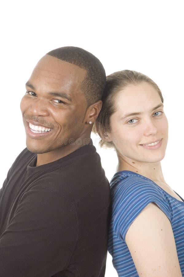 Διαφυλετικό ζεύγος στοκ εικόνα με δικαίωμα ελεύθερης χρήσης