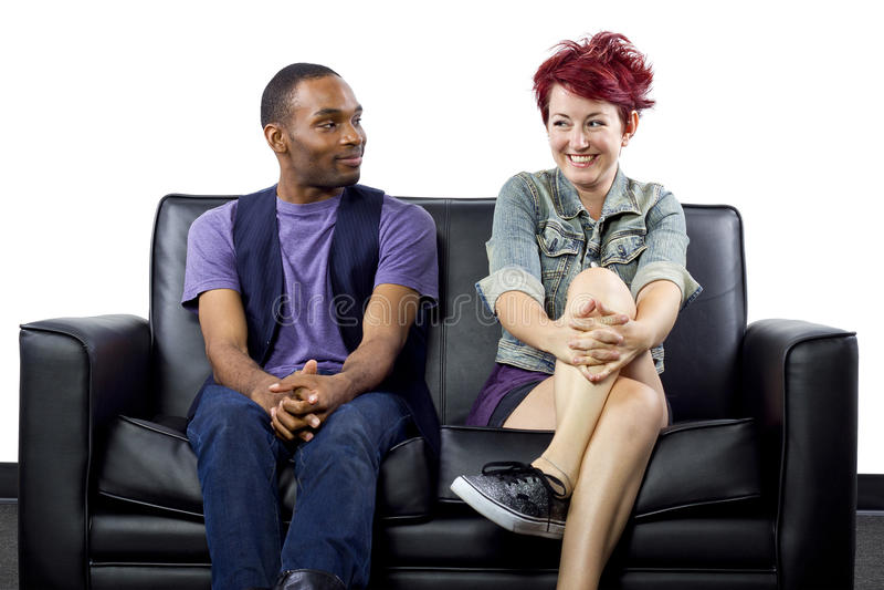 Διαφυλετικό ζεύγος στοκ φωτογραφία με δικαίωμα ελεύθερης χρήσης