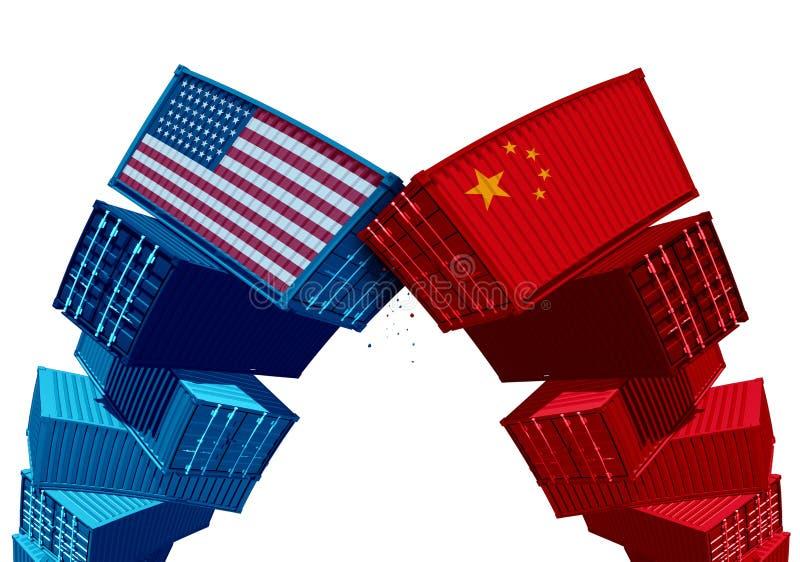 Διαφωνία αμερικανικών Κίνα δασμολογίων διανυσματική απεικόνιση