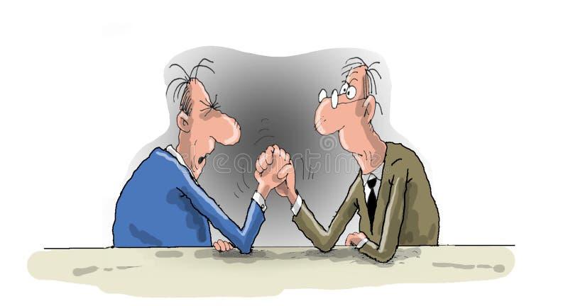 Διαφωνία, συζήτηση, ανταγωνισμός διανυσματική απεικόνιση