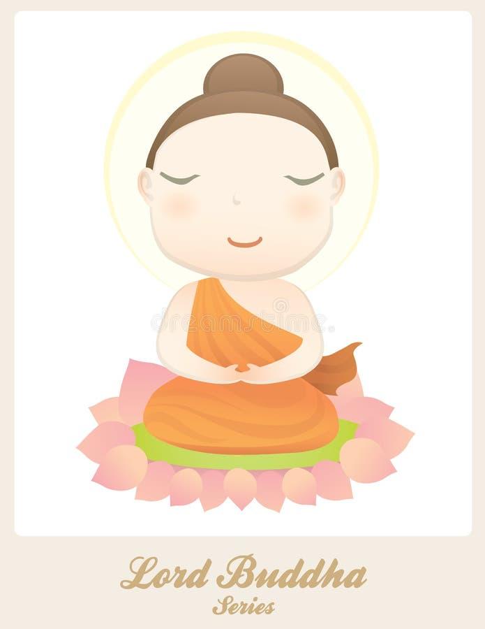 Διαφωτισμός Λόρδου Βούδα απεικόνιση αποθεμάτων