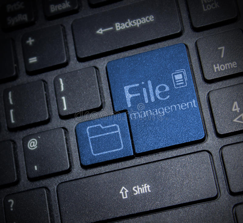 Διαχείριση αρχείων στοκ εικόνα