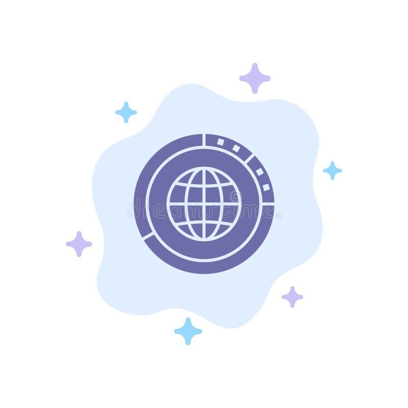 Διαχείριση, Δεδομένα, Καθολικό, Υδρόγειος, Πόροι, Στατιστικά, Μπλε εικονίδιο σε αφηρημένο φόντο σύννεφου ελεύθερη απεικόνιση δικαιώματος