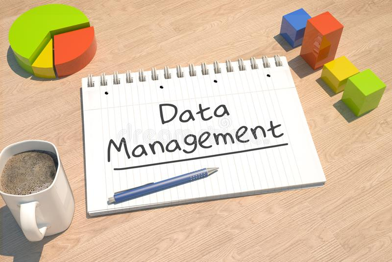 Διαχείριση δεδομένων διανυσματική απεικόνιση