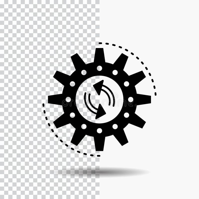 διαχείριση, διαδικασία, παραγωγή, στόχος, εικονίδιο Glyph εργασίας στο διαφανές υπόβαθρο r ελεύθερη απεικόνιση δικαιώματος