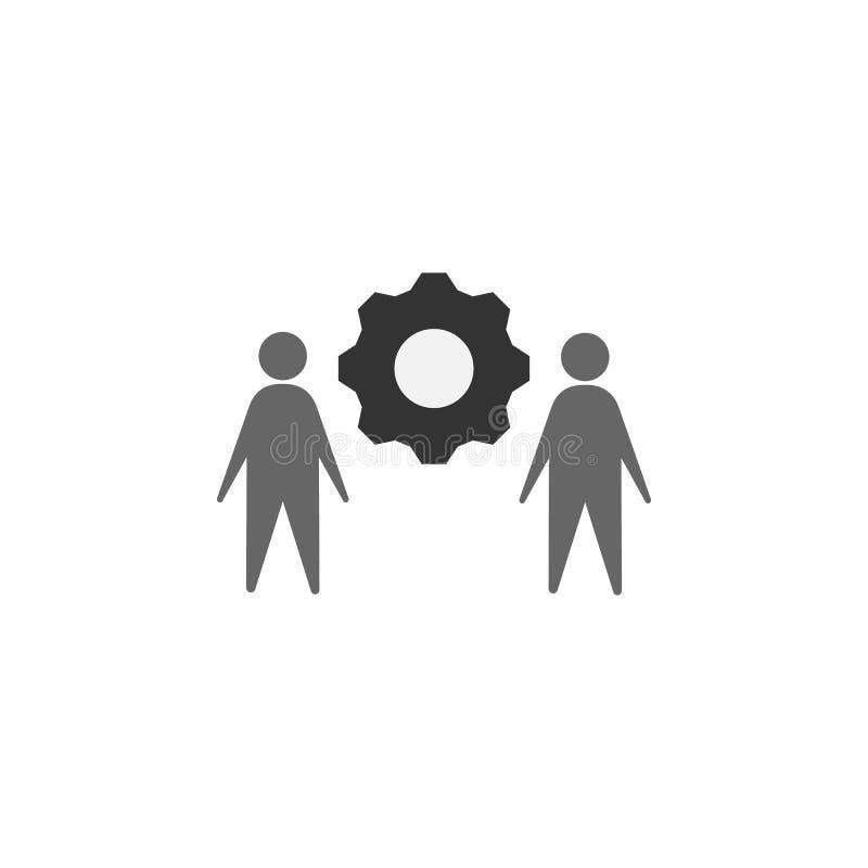 διαχείριση, εικονίδιο λύσης Στοιχείο του μάρκετινγκ του εικονιδίου για την κινητούς έννοια και τον Ιστό apps Η λεπτομερής διαχείρ διανυσματική απεικόνιση