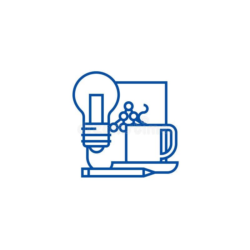 Διαχείριση ιδέας, έγγραφο με την έννοια εικονιδίων γραμμών σχεδίου Διαχείριση ιδέας, έγγραφο με το επίπεδο διανυσματικό σύμβολο σ απεικόνιση αποθεμάτων