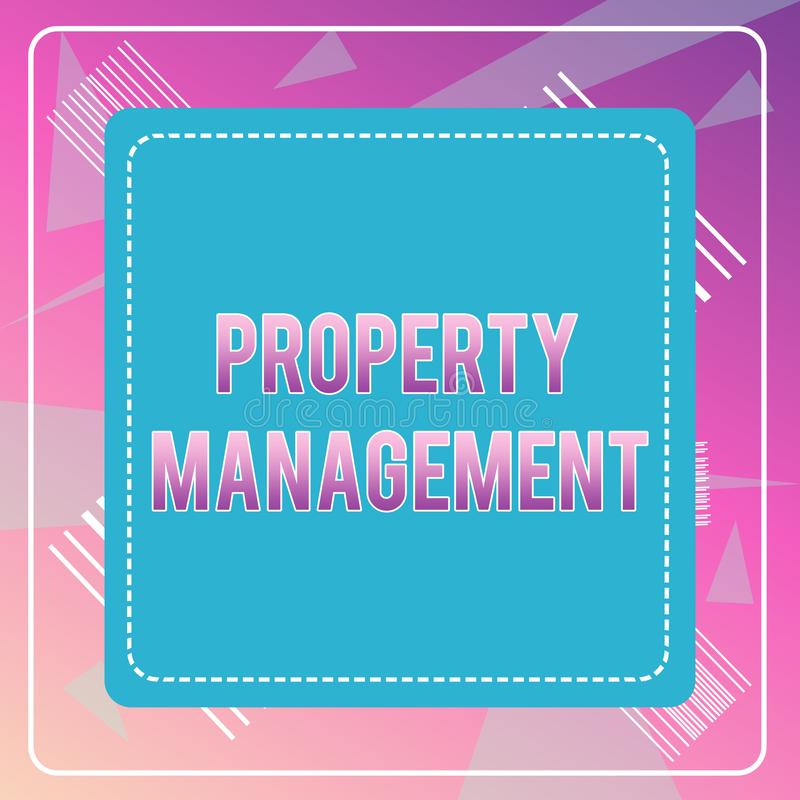 Διαχείριση ιδιοκτησίας κειμένων γραψίματος λέξης Επιχειρησιακή έννοια για την επιτήρηση της συντηρημένης αξίας ακίνητων περιουσιώ ελεύθερη απεικόνιση δικαιώματος
