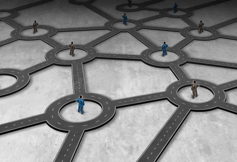 Διαχείριση δικτύου διοικητικών μεριμνών διανυσματική απεικόνιση