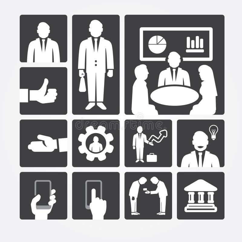Διαχείριση και ανθρώπινα δυναμικά επιχειρησιακών εικονιδίων. απεικόνιση αποθεμάτων