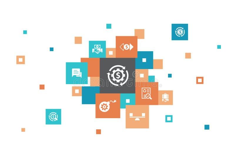 Διαχείριση πόρων Infographic 10 βήματα διανυσματική απεικόνιση