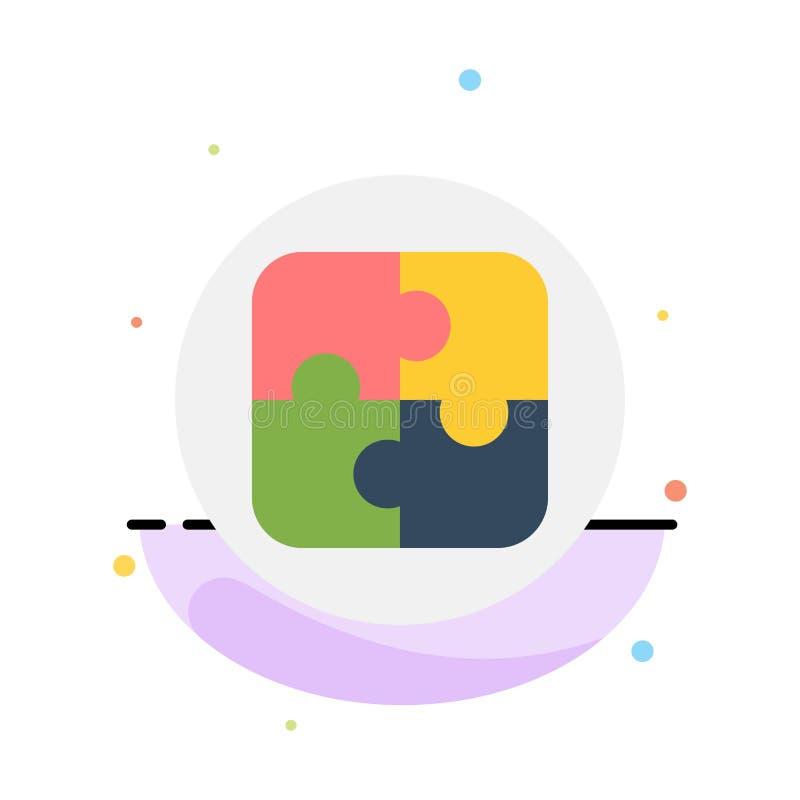 Διαχείριση, σχέδιο, προγραμματισμός, αφηρημένο επίπεδο πρότυπο εικονιδίων χρώματος λύσης απεικόνιση αποθεμάτων