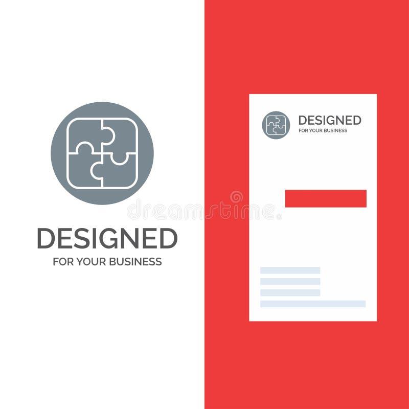 Διαχείριση, σχέδιο, προγραμματισμός, γκρίζο σχέδιο λογότυπων λύσης και πρότυπο επαγγελματικών καρτών διανυσματική απεικόνιση