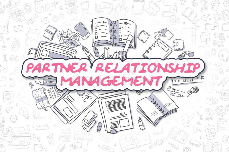 Διαχείριση σχέσης εταίρων - επιχειρησιακή έννοια απεικόνιση αποθεμάτων