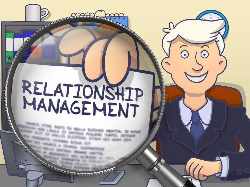 Διαχείριση σχέσης μέσω της ενίσχυσης - γυαλί Ύφος Doodle διανυσματική απεικόνιση