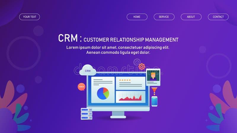 Διαχείριση σχέσης πελατών, διοίκηση επιχειρήσεων, αλληλεπίδραση με την έννοια πελατών αυτόματα διανυσματική απεικόνιση