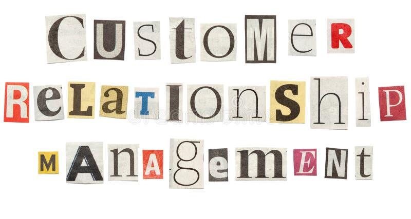 Διαχείριση σχέσης πελατών, επιστολές εφημερίδων διακοπής στοκ φωτογραφία