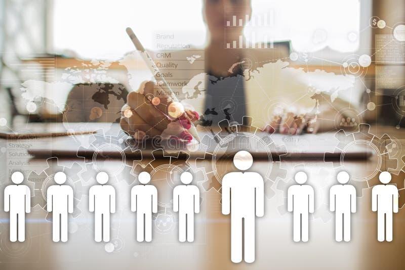 Διαχείριση του ανθρώπινου δυναμικού, ωρ., στρατολόγηση, ηγεσία και Έννοια επιχειρήσεων και τεχνολογίας απεικόνιση αποθεμάτων