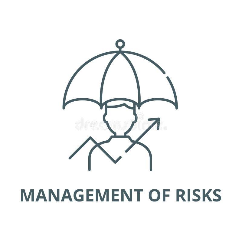 Διαχείριση του διανυσματικού εικονιδίου γραμμών κινδύνων, γραμμική έννοια, σημάδι περιλήψεων, σύμβολο ελεύθερη απεικόνιση δικαιώματος