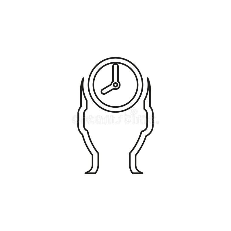 Διαχείριση του χρονικού εικονιδίου, διανυσματική χρονική διαχείριση απεικόνιση αποθεμάτων