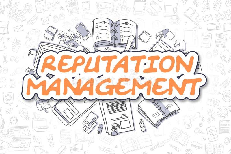 Διαχείριση φήμης - επιχειρησιακή έννοια διανυσματική απεικόνιση