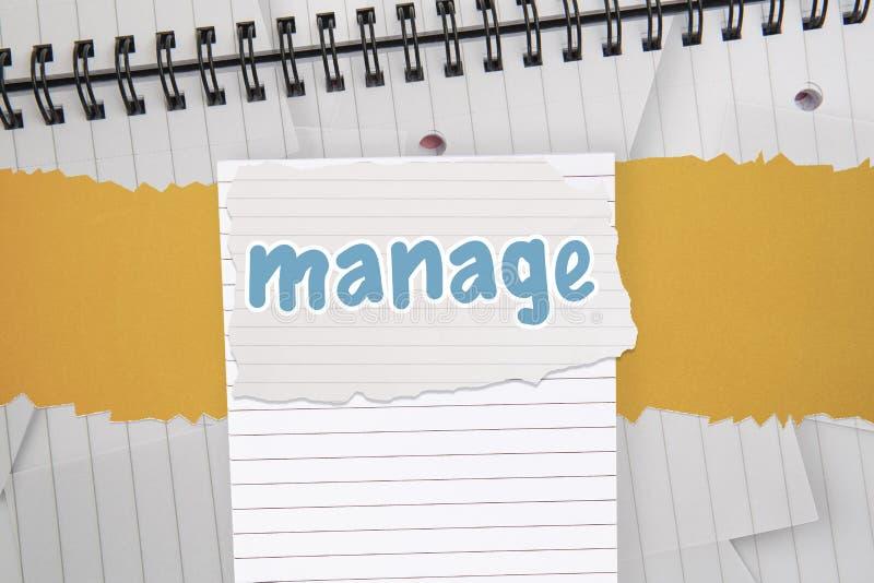 Διαχειριστείτε ενάντια στο ψηφιακά παραγμένο σημειωματάριο με το ευθυγραμμισμένο έγγραφο διανυσματική απεικόνιση