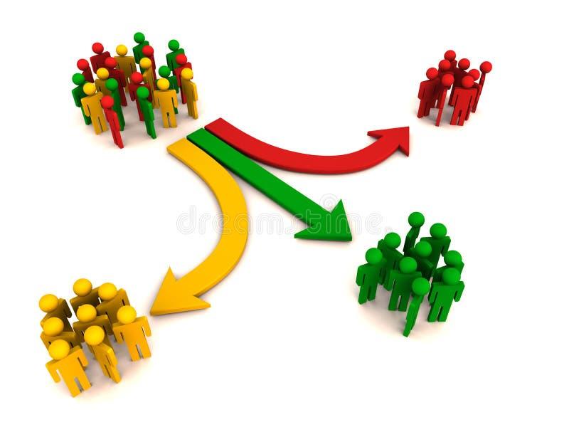 διαχωρισμός κατάτμησης πελατών ελεύθερη απεικόνιση δικαιώματος