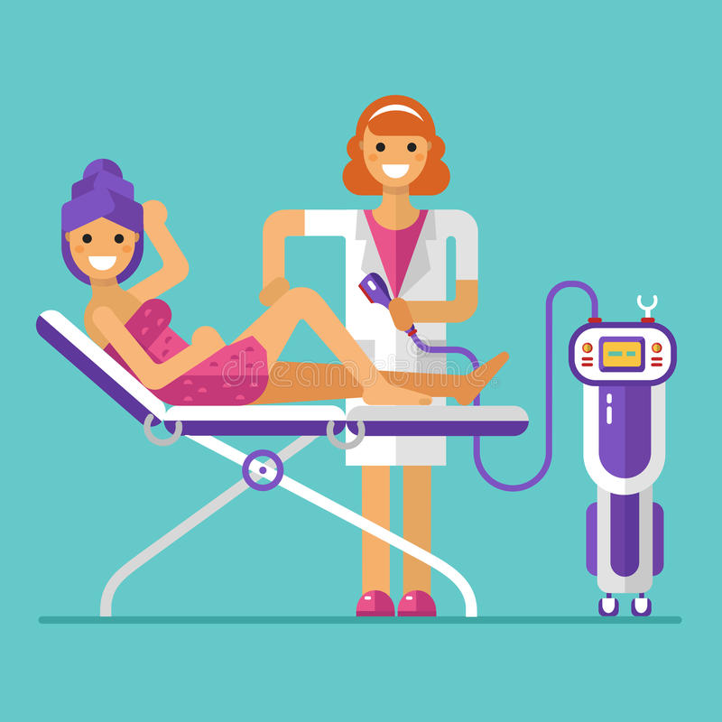 Διαδικασία epilation λέιζερ απεικόνιση αποθεμάτων