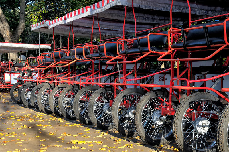 Διαδοχικά ποδήλατα που στέκονται σε μια σειρά στοκ φωτογραφία με δικαίωμα ελεύθερης χρήσης