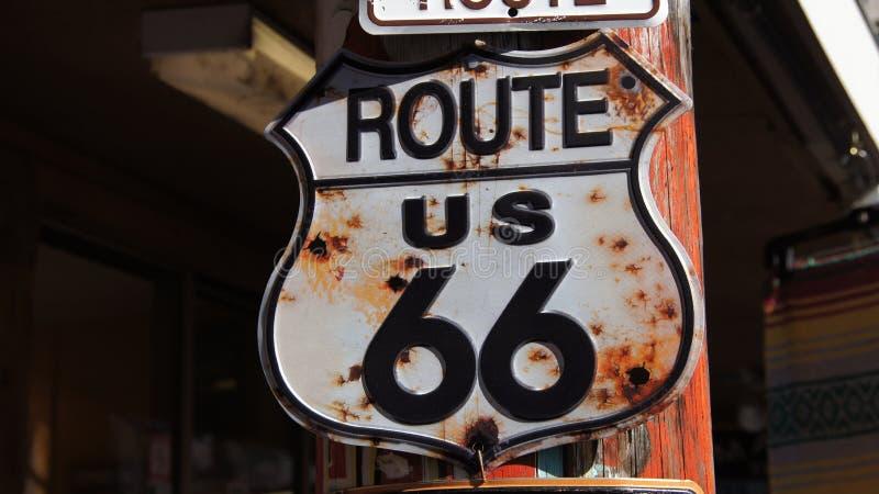 Διαδρομή 66 σημάδι ΗΠΑ στοκ εικόνες