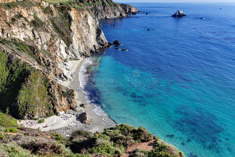 Διαδρομή 1 Ειρηνικών Ωκεανών - κράτος Καλιφόρνιας εθνική οδός Pacific Coast - κοντινή γέφυρα κολπίσκου Bixby, μεγάλη περιοχή Sur, στοκ εικόνες