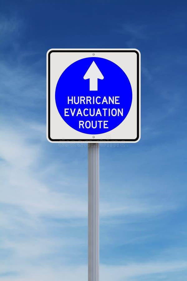 Διαδρομή εκκένωσης τυφώνα στοκ φωτογραφία