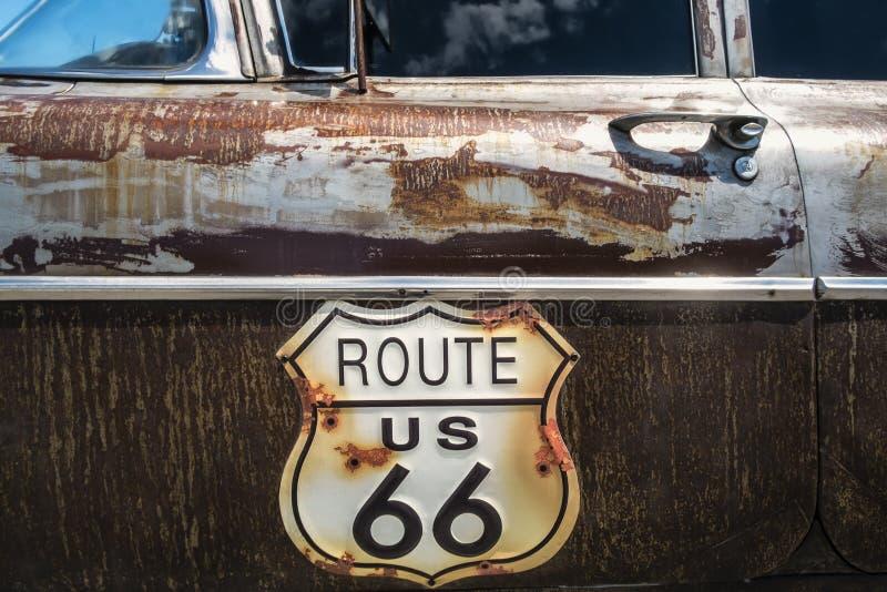 Διαδρομή 66 οδικό σημάδι στοκ φωτογραφία