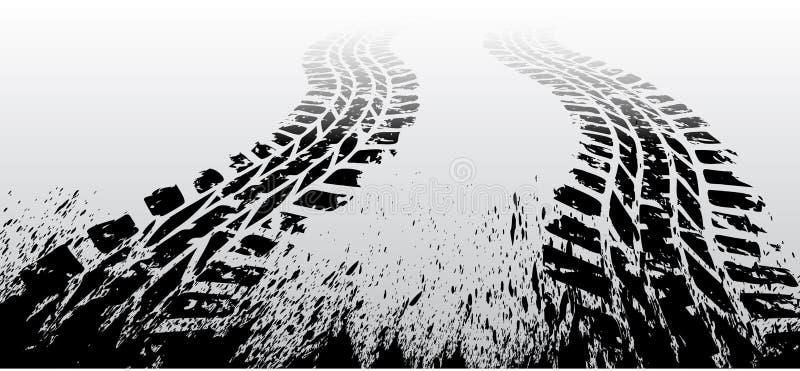 Διαδρομή ροδών Grunge απεικόνιση αποθεμάτων