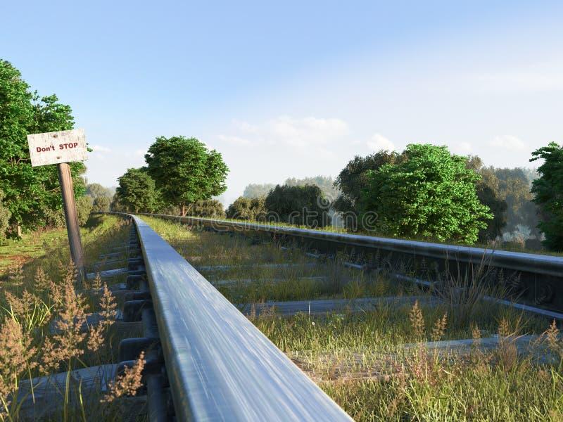 Διαδρομή σιδηροδρόμων που διασχίζει το αγροτικό τοπίο μικρό ταξίδι χαρτών του Δουβλίνου έννοιας πόλεων αυτοκινήτων στοκ εικόνα