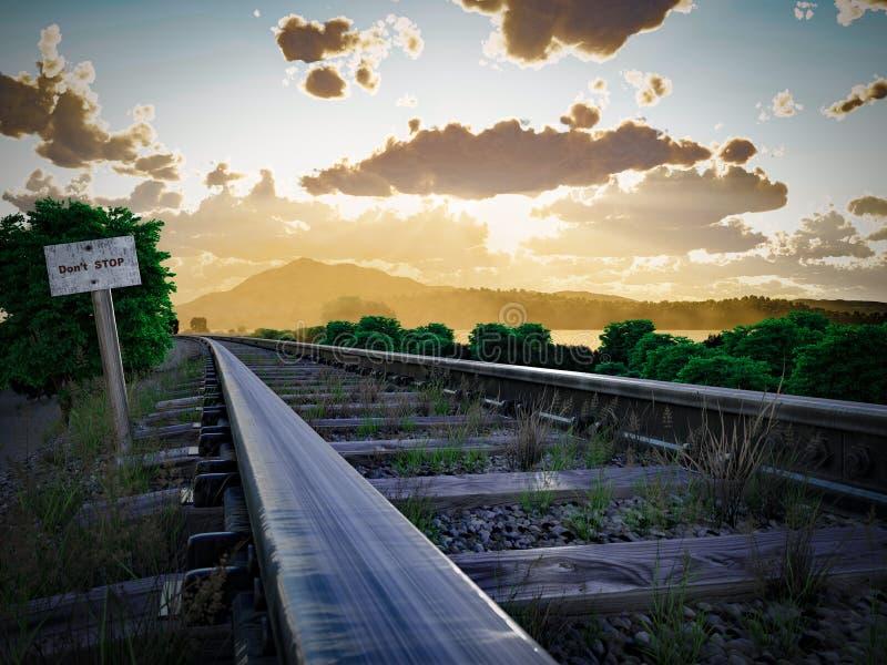 Διαδρομή σιδηροδρόμων που διασχίζει το αγροτικό τοπίο στοκ εικόνες