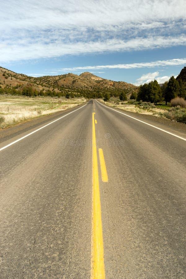 Διαδρομή 26 του Όρεγκον Ochoco αμερικανικό ταξίδι τοπίων ερήμων εθνικών οδών υψηλό στοκ εικόνες