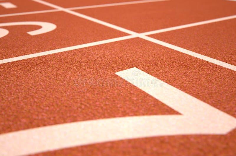 Διαδρομή Startline αθλητισμού στοκ εικόνα