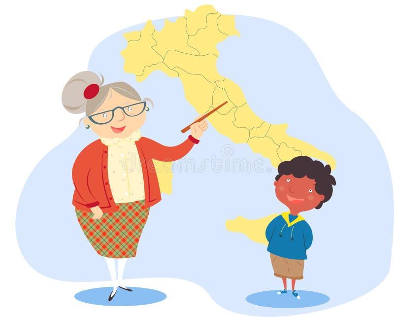διδασκαλία γεωγραφίας ελεύθερη απεικόνιση δικαιώματος